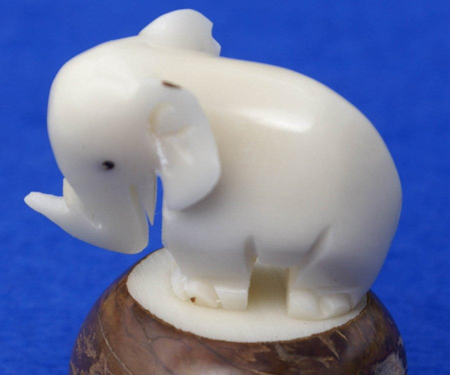 Petit éléphant en Tagua