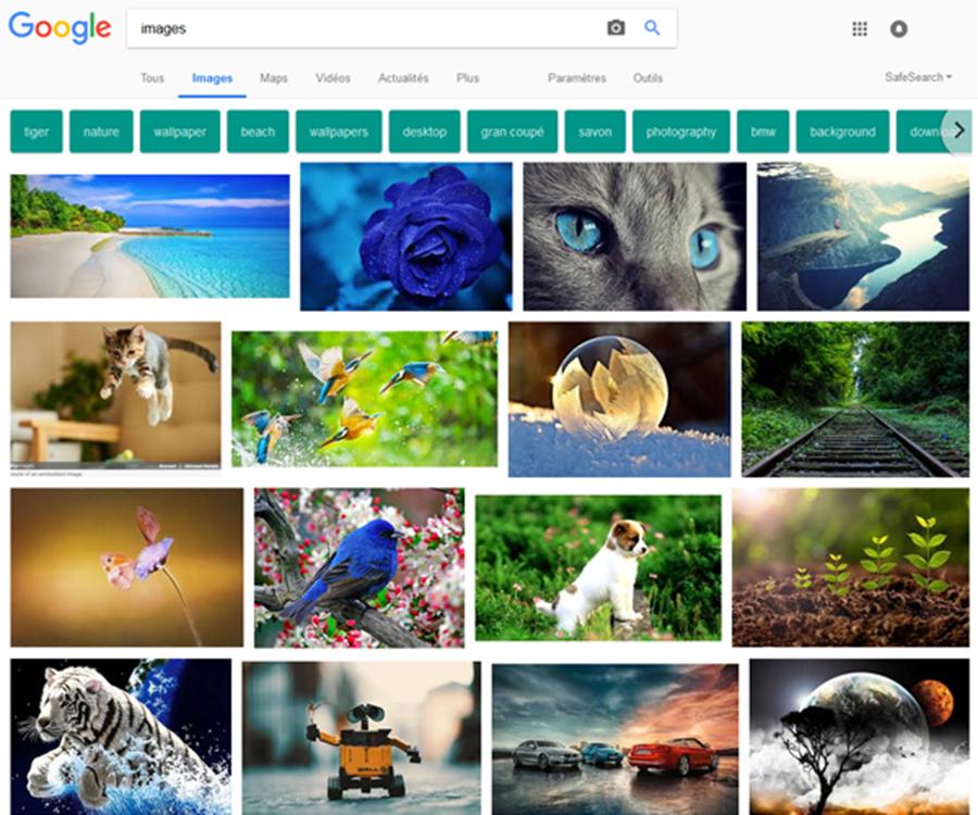 Recherche d'inspiration Google Image