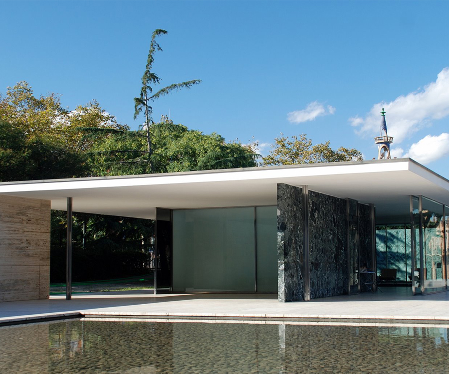 Pavillon Barcelona par Mies Van Der Rohe
