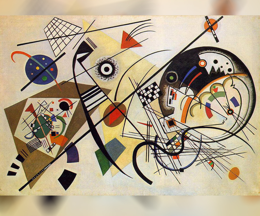 Ligne transversale de Vassily Kandinsky, 1923