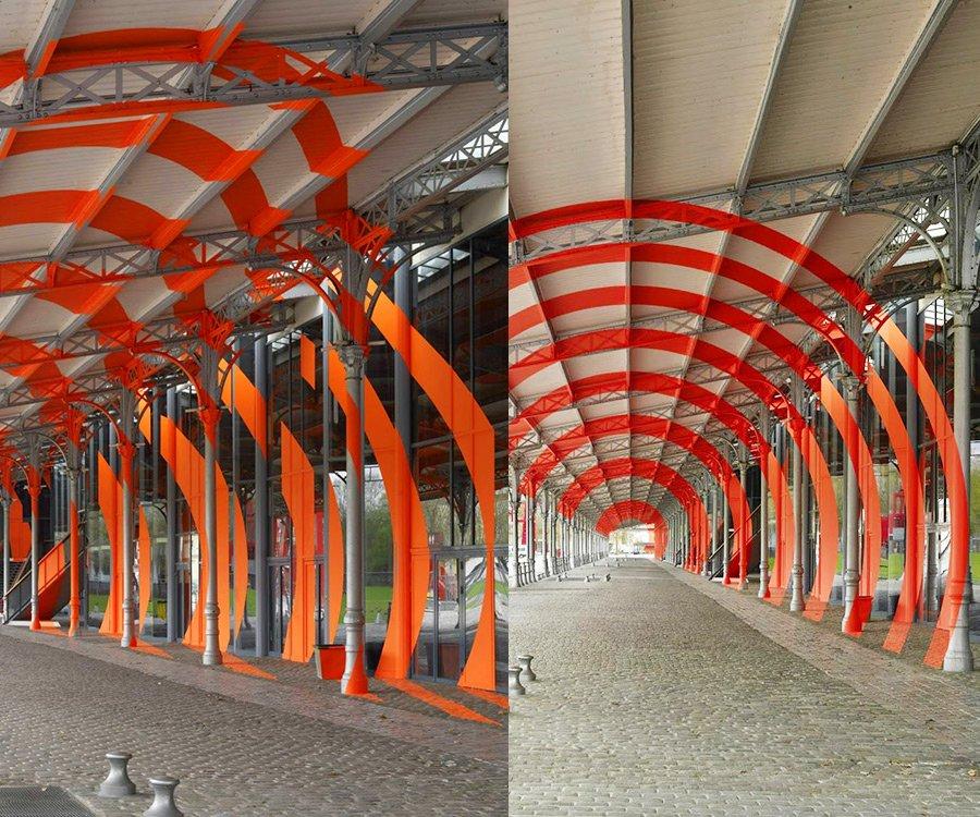 Felice Varini - Arcs de cercle sur diagonale