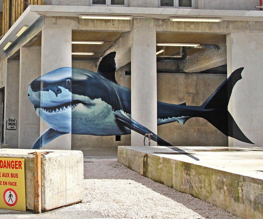 Etein' - Anamorphose requin blanc