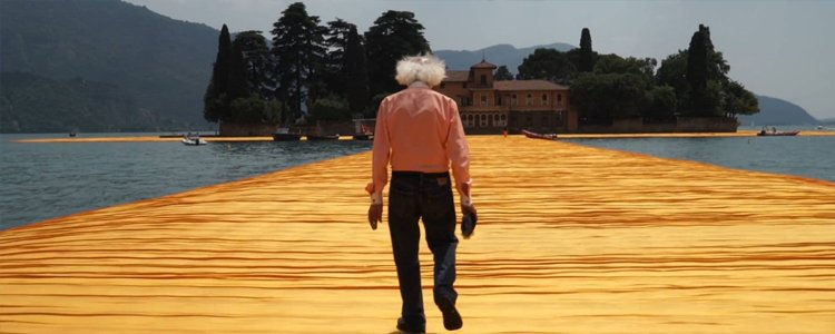 Christo sur The Floating Piers